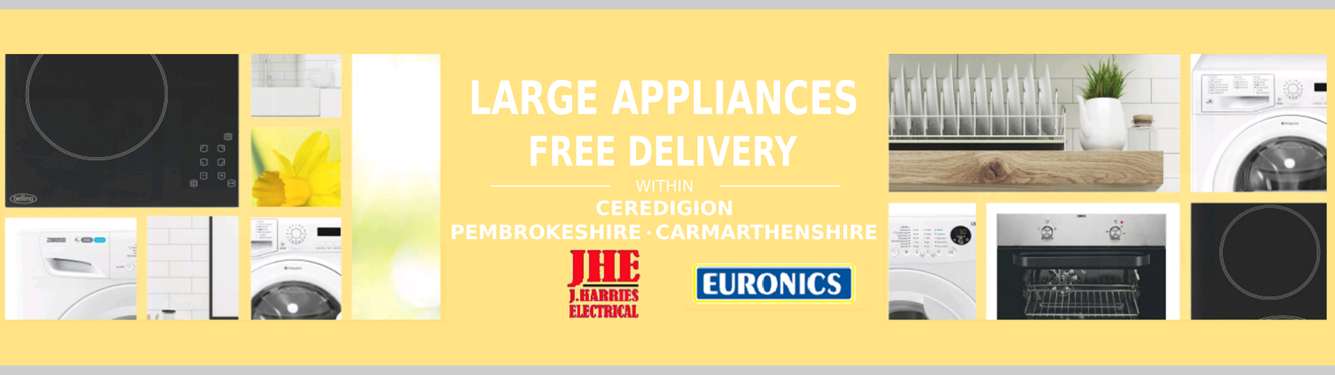 Electronics store Cardigan - washing machines, fridge freezers, cookers