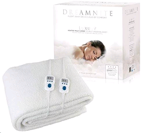 Dreamnite Multizone Heated Fleecy Fitted Electric Blanket