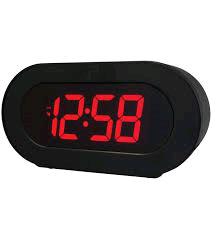 Acctim Colorado LED Alarm Clock No Radio x2 USB Ports