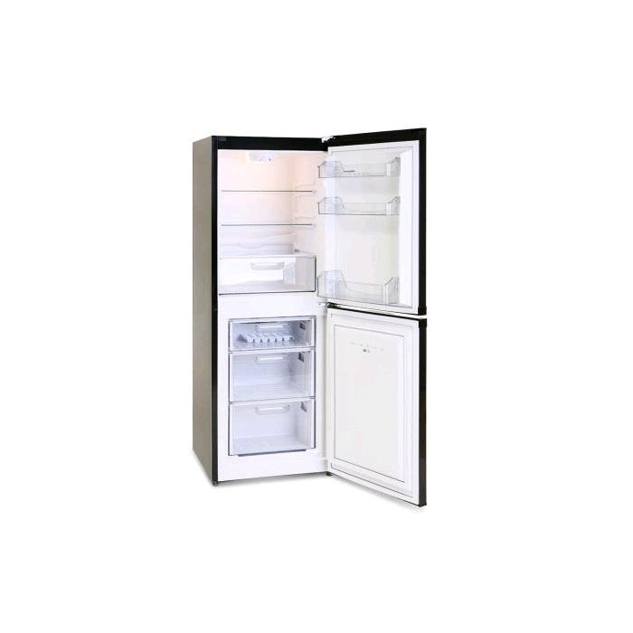 Montpellier Fridge Freezer Frost Free Black H1520 W540 D610