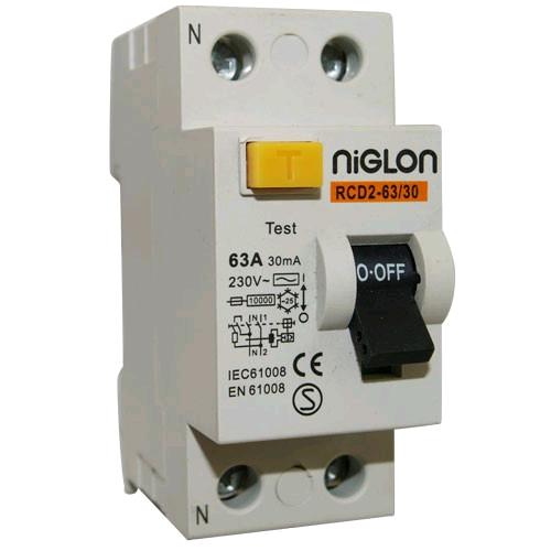 Niglon 2 Pole 63A 30mA RCD