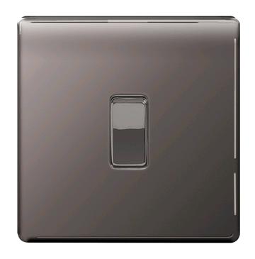 BG 1gang Black Nickel Switch