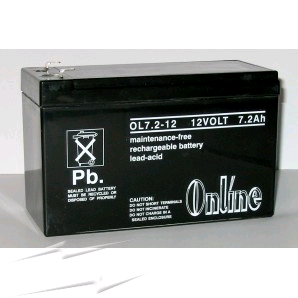 Battery Rechargeable 12v 7Ah LY11-047-24 VT1207