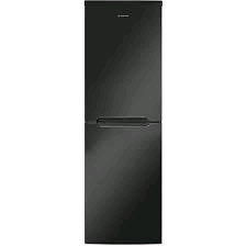 Hoover Fridge Freezer BLACK 165/90Litres Frost Free Metal Backed H177 W55  D70cm 4 Freezer Drawer