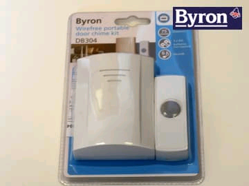 Byron 0891134 Wire Free Door Chime  50 metre Kit B304