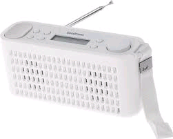 Goodmans DAB Splashproof Radio White with Bluetooth