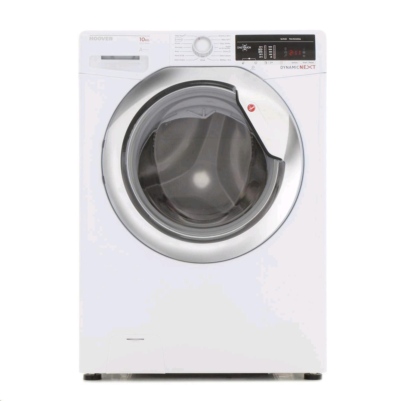 Hoover Washing Machine 10kg 1500 Spin Speed c/w Chrome Door