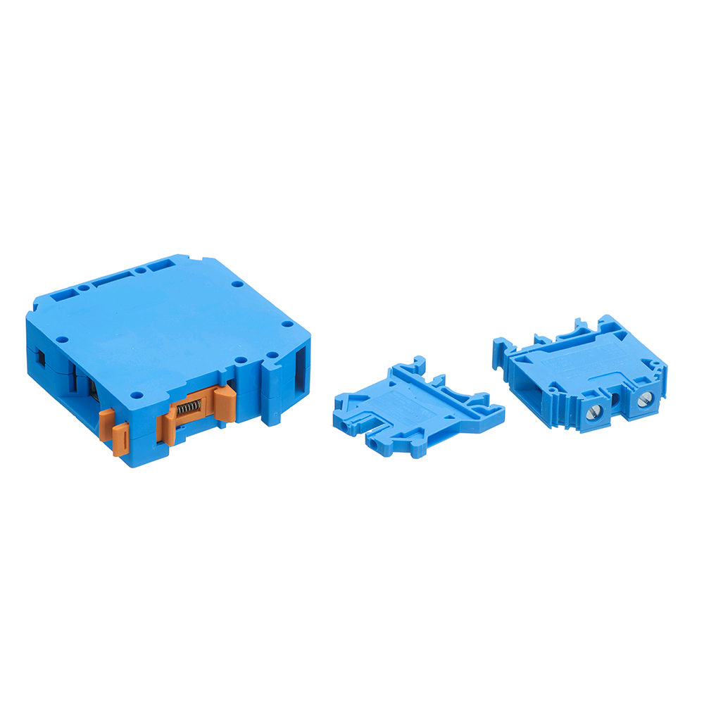 Europa 4mm Blue Din Rail Terminal