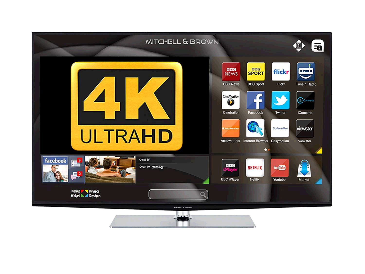 "Mitchell & Brown 43"" LED Full HD TV, T2 Tuner SMART, Freeview Play, WARRANTY MUST BE REGISTERED"