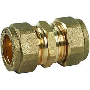 Copper Coupler 15mm Compression