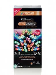 PREMIER LB112384M BATTERY OPERATED M/ACTION LIGHTS 200 LED + TIMER MULTI