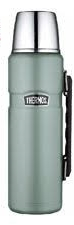 THERMOS 170298 STAINLESS KING FLASK 1.2LTR DUCK EGG BLUE