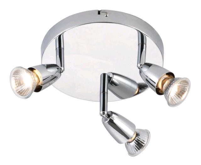 Saxby Amalfi Triple 50w Spot Chrome