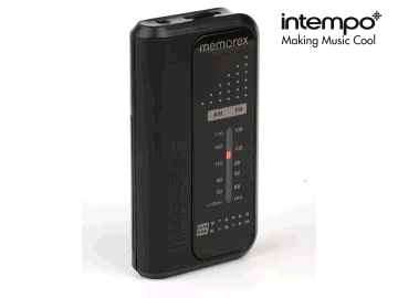INTEMPO 3050164 Pocket Radio AM/FM EE3385BLKSTKEU
