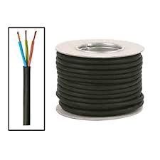 Black Flex 3Core 1.5mm Tough Rubber (per mtr)