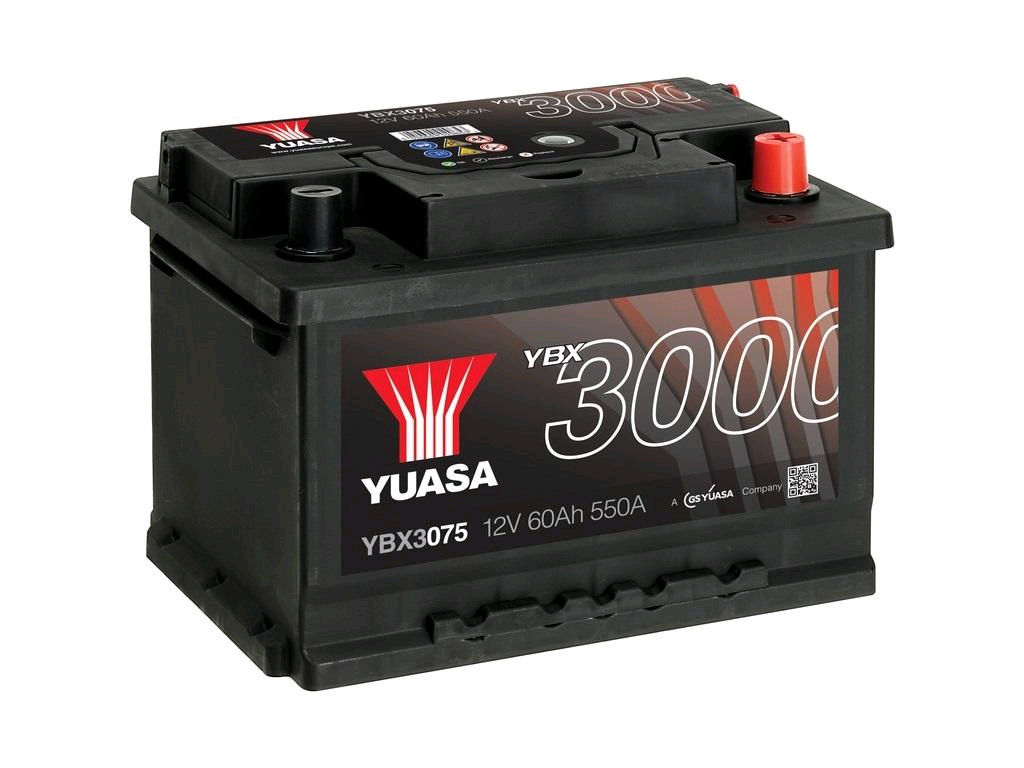 Yuasa 60Ah 550A Battery (075PRO)