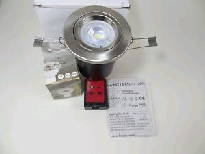 JCC Fireguard GU10 Downlight Twist & Lock Brushed Nickel