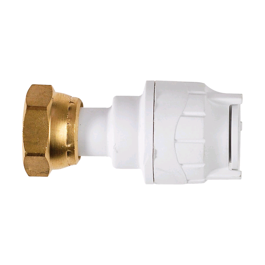 "Polypipe PolyFit 15mm x 1/2"" Straight Tap Connector"