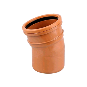 Underground 110mm 15deg Bend M/F Terracotta D167 SOIL