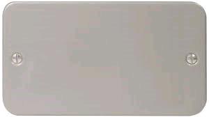 BG Metal Clad 2gang  Blank Plate