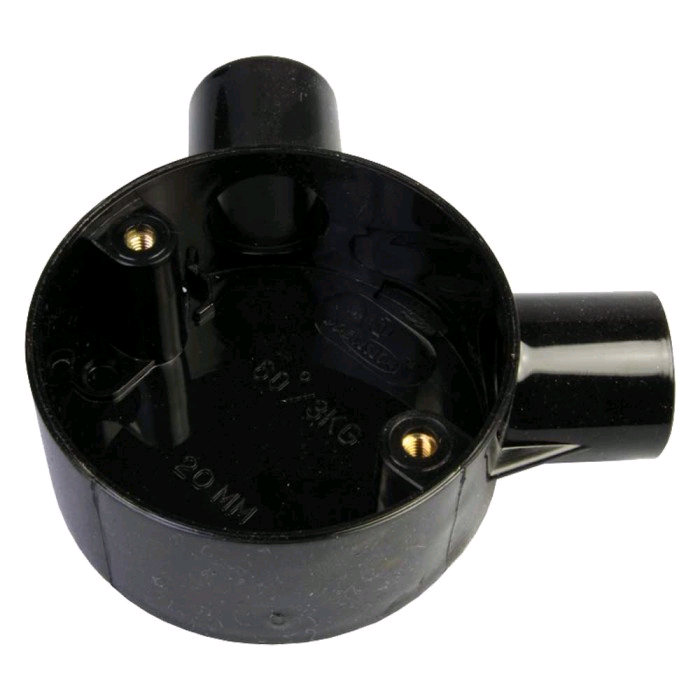 Falcon Conduit Angle Box 25mm Black
