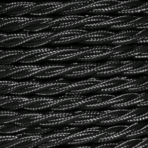 Cable 3 Core Twisted Braided 0.75mm Black