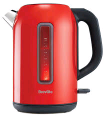 Breville Red Kettle With Large Viewing Window 1.7Ltr 3Kw