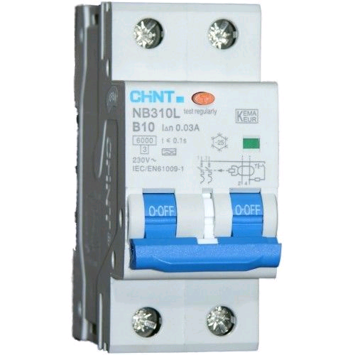 "Chint 10a 30mA 2Pole ""C"" Rated  RCBO"