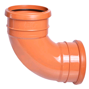 Underground 110mm Double Socket 87deg Bend Terracotta D561 SOIL