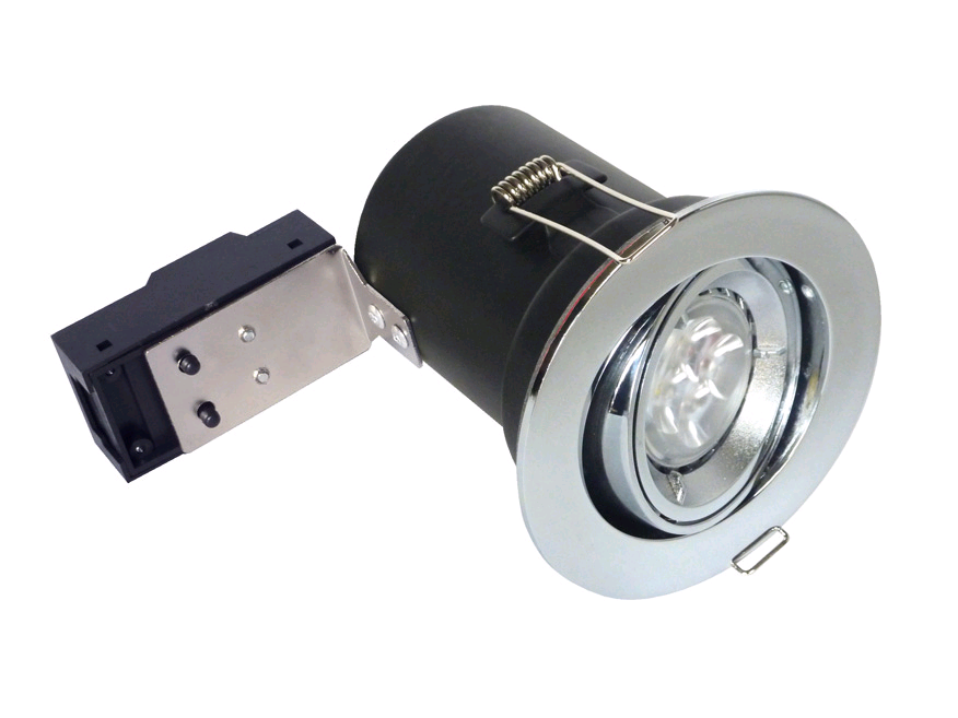 Bell 12V/240V Chrome Centre Tilt Downlight