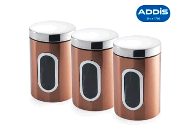 ADDIS 0057895 Canister Set Copper Finish 515717