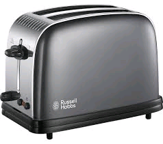 RUSSEL HOBBS 2 Slice Colour+ Toaster GREY