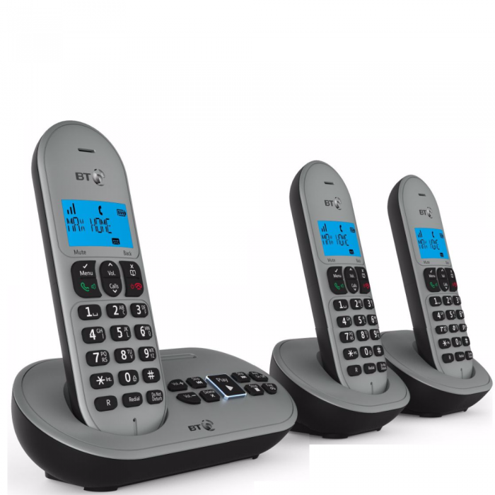 BT Cordless Telephone Triple Handset Digital with Answering Machine