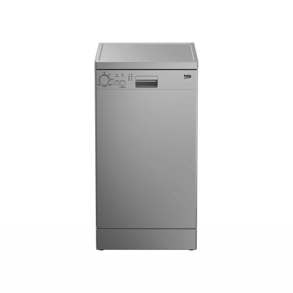 Beko Slimline Freestanding 10 Place Dishwasher (Stearn) Silver