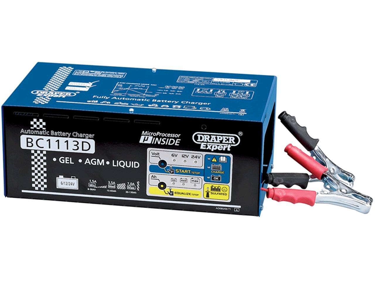 Draper 230V Battery Charger & Desulphate