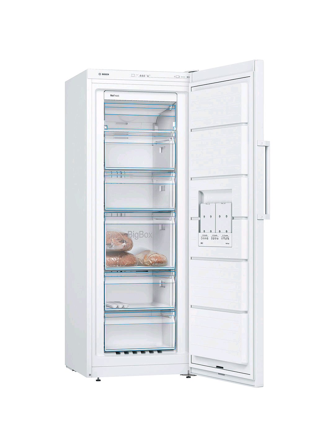 Bosch GSN29VW3VG Tall Freezer A++ Energy Rating Height 161cm 60cm Wide Frost Free White