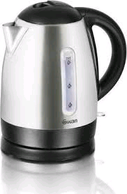 Swan 1.7 Ltr Brushed Stainless Steel Kettle
