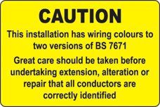 Industrial Signs Mixed Cable Notice (Pack 10)