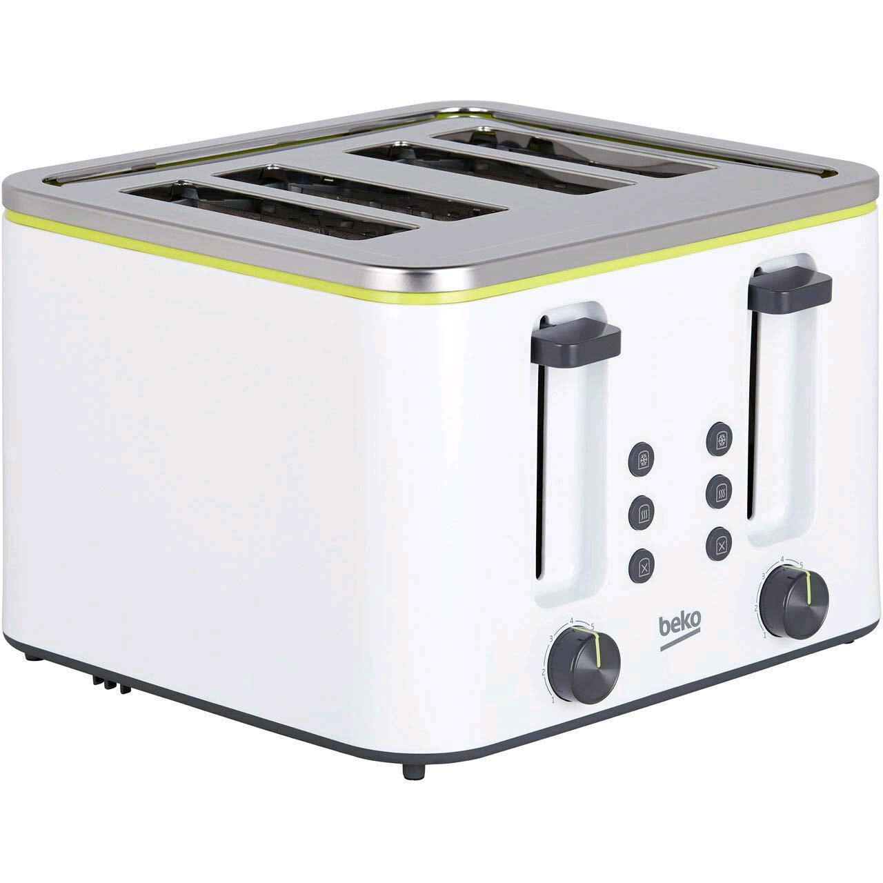 Beko TAM4341W 4 Slice Toaster White