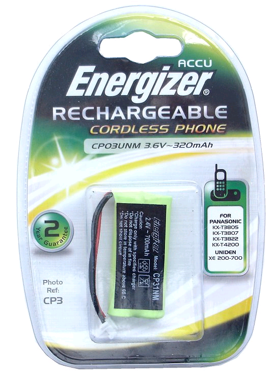 Energizer Cordless Telephone Battery Pack 2.4v 700mAH