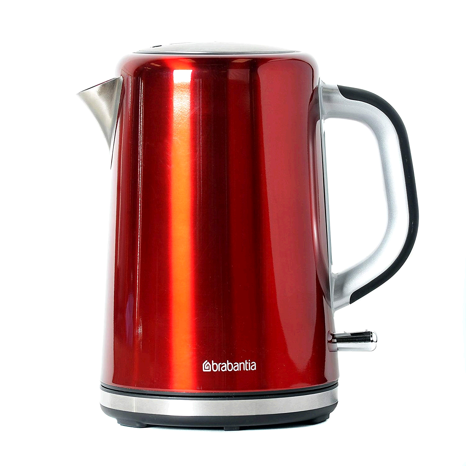 Brabantia Soft Grip Kettle Brushed Stainless Steel Red 1.7ltr