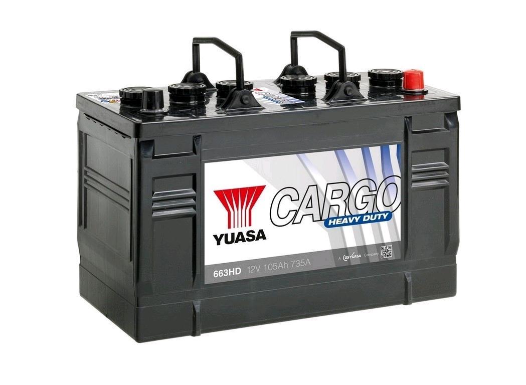 Yuasa 12V Battery 105Ah 735A Cargo Heavy Duty