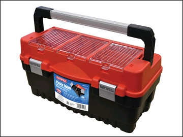 Faithfull Plastic Toolbox 21in c/w Cantilever Tote