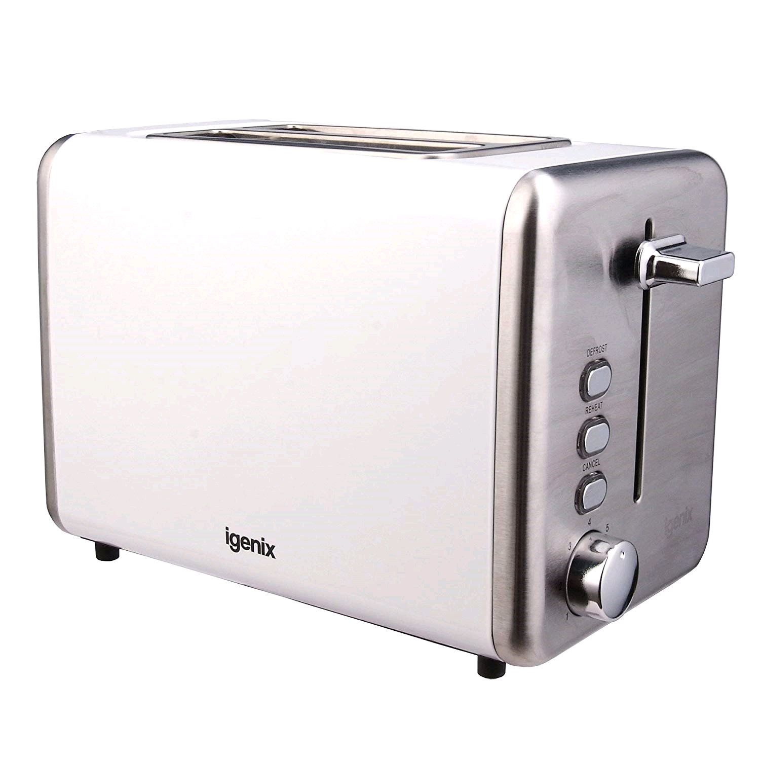 Igenix 2 Slice Toaster White Metal