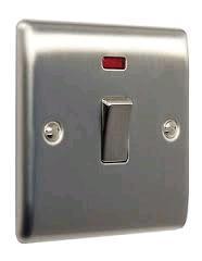 BG 20a DP Switch + Neon Brushed Steel