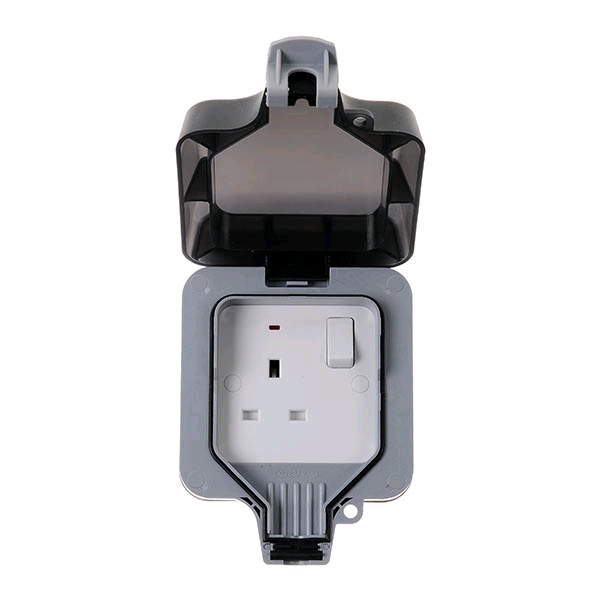 BG Weather Proof IP65 13a DP 1gang Switched Socket