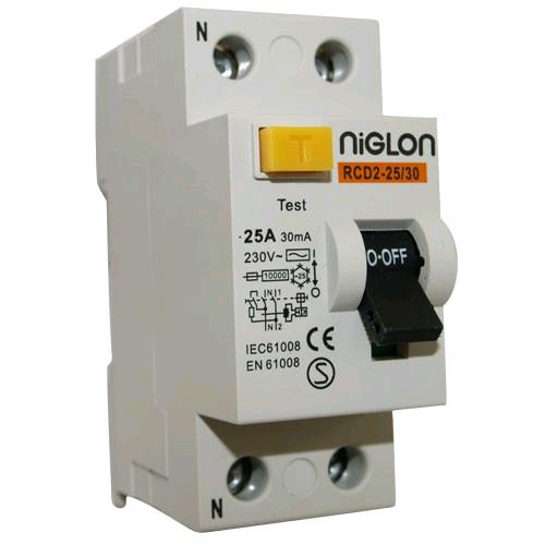 Niglon 2 Pole 25A 30mA RCD