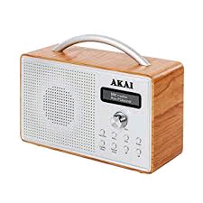 Akai Wood DAB Radio Beach with LCD Display
