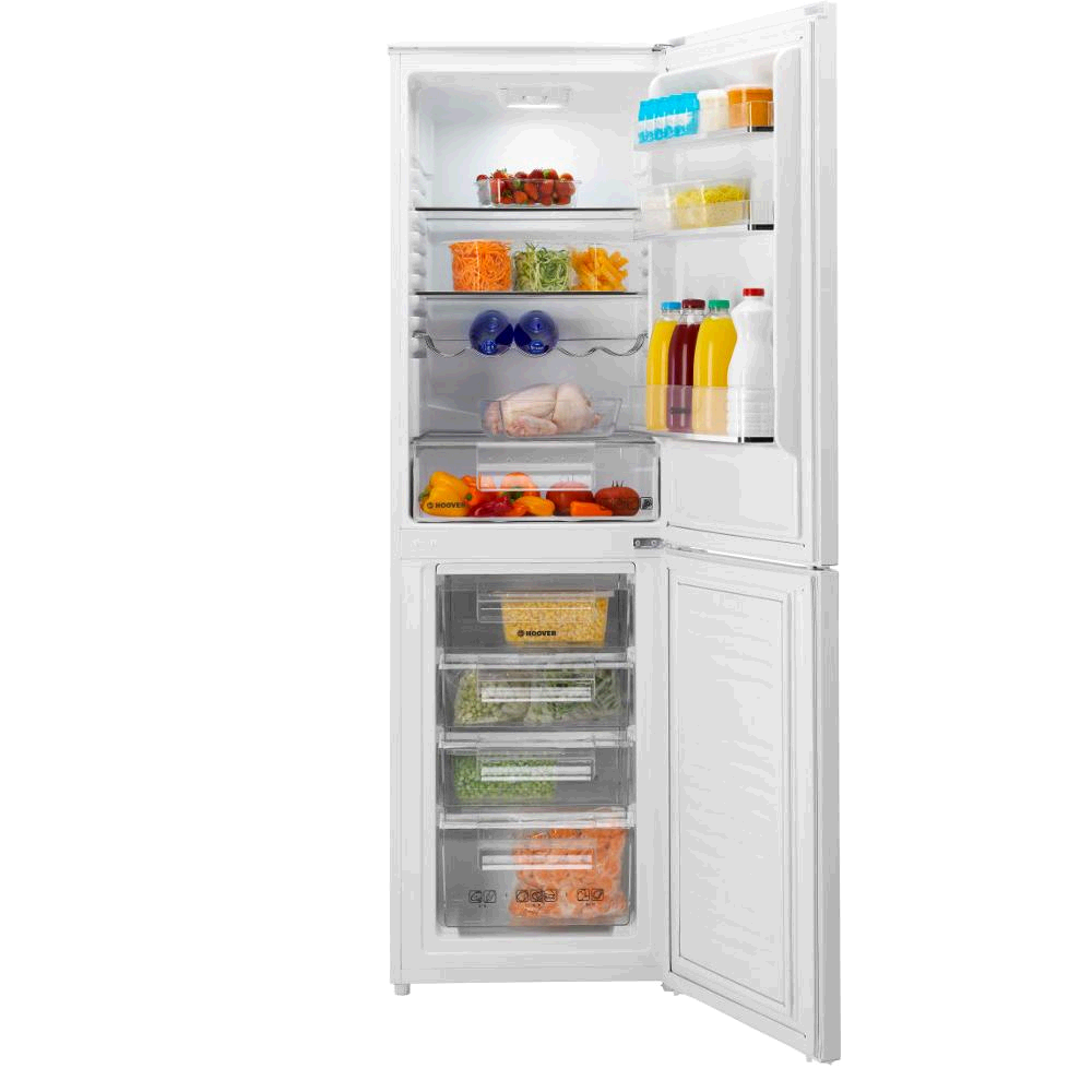Hoover Fridge FreezerWHITE 165/90Litres Frost Free Metal Backed H177 W55  D70cm 4 Freezer Drawer