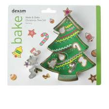 DEXAM 17851037 MAKE AND BAKE CHRISTMAS TREE CUTTER SET X6